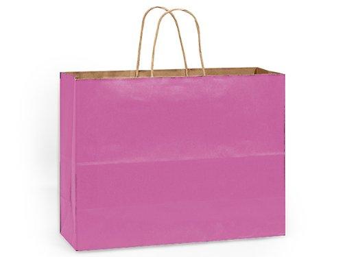 VOGUE LIPSTICK 100% Recycled KraftBULK Shopping Bags 16 x 6 x 12'' 1 unit, 250 pack per unit.