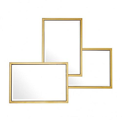 Casa Padrino Luxus Spiegel Neo Klassisch 80 x H 96 cm Edelstahl Goldfarben - Wandspiegel - Luxus Hotel Möbel Collection