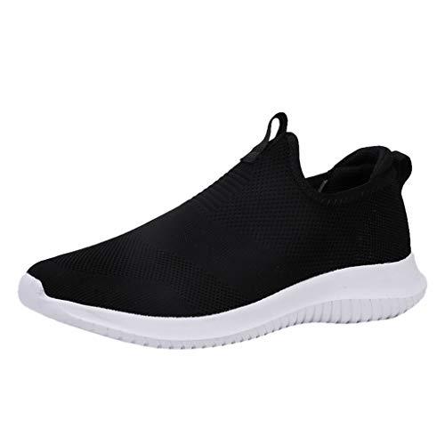 Men Women Woven Breathable Casual Shoes Couple Ultra Light Hollow Soft Bottom Outdoor Lightweight Mesh Sport Shoes Black
