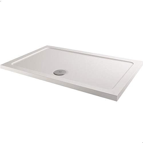 1000x700mm Shower Tray Rectangular Low Profile Premium Anti-Slip Free Waste