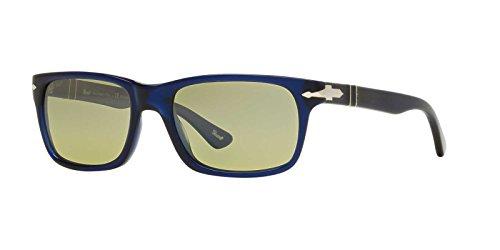 Persol Mens Sunglasses (PO3048) Blue/Green Acetate - Polarized - - Persol Blue