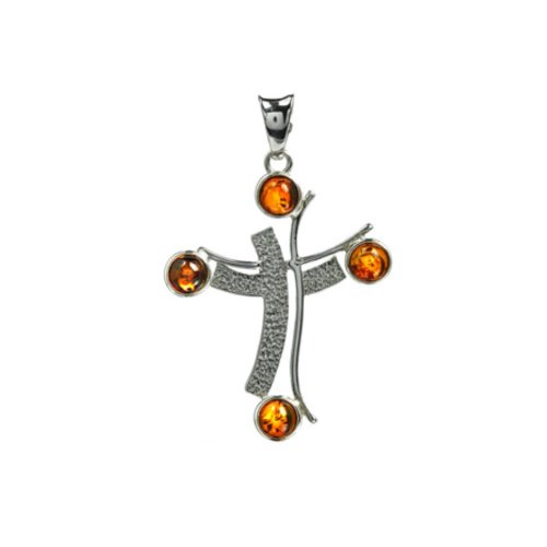 Amber-Sterling-Silver-Contemporary-Cross-Pendant