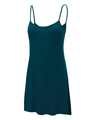 Womens Solid Spaghetti Strap Dress