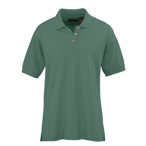(Ultraclub Ladies Whisper Pique Short Sleeve Polo Shirt,Leaf Green, XL)