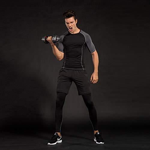 Fitness Avec Jogging Courtes Football Ensemble Tenue Shirt Rapide Sportswear Compression short Séchage Running Sport Homme collant new Vêtements 3 De Workout 153519 Niksa Manches Cyclisme Pour Pièces xqwZYRTWS