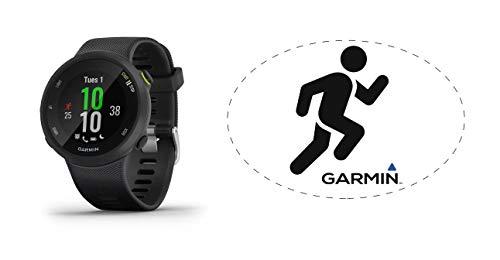 HRM Garmin Forerunner 45 GPS Running Watch Black Bundle with 6x4 Oval Car Magnet
