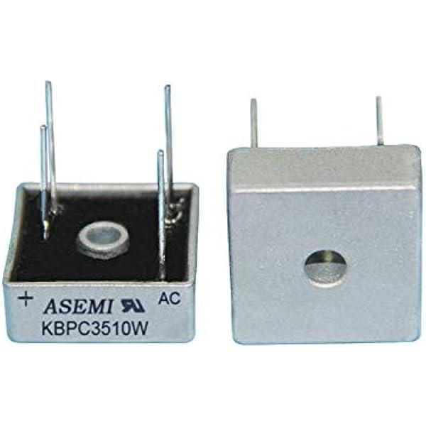 5PCS 35A 1000V Metal Case Single Phases Diode Bridge Rectifier KBPC3510 luHAGZU