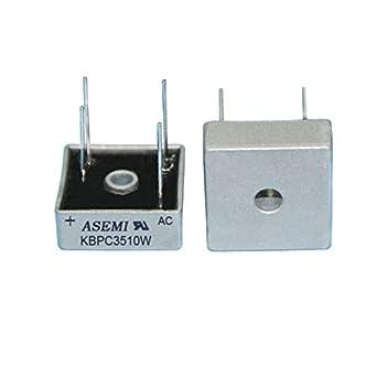 Amazon.com: ASEMI KBPC3510W 35A 1000V - Carcasa de metal ...
