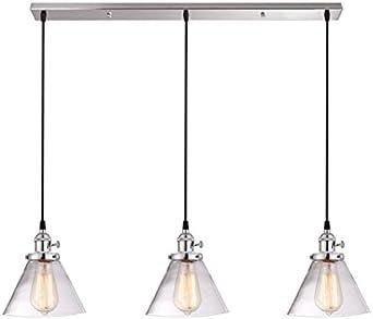 3-cocina Ligera Colgante De Luz,metal Moderno Lámparas Araña Con ...