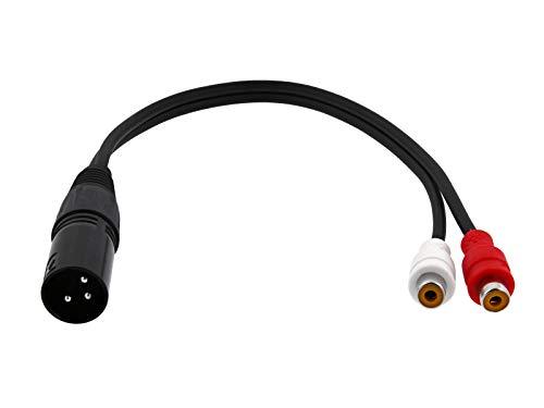 - XLR Microphone Cables (1 Foot, XLR Male - 2 RCA Female)