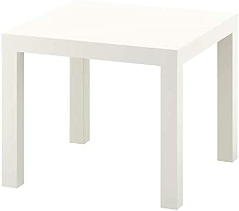 Side Table 55x55 cm White