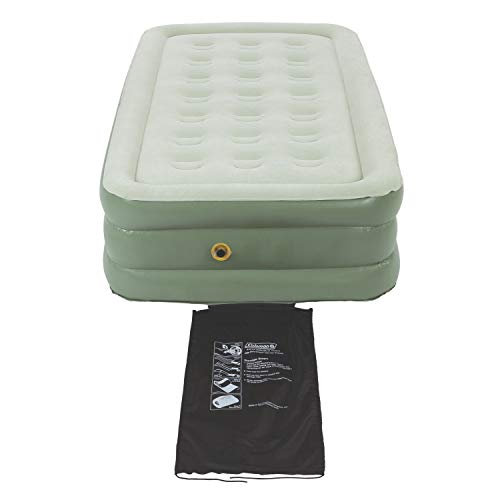 Coleman Air Mattress | Double-High SupportRest Air Bed for Indoor or Outdoor Use (Coleman Twin Double High Air Mattress With Pump)