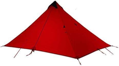 テント HCGS キャンプ テント 15dシリコーンコーティングロッドレス二重層シングル1人3シーズン防水超軽量キャンプ