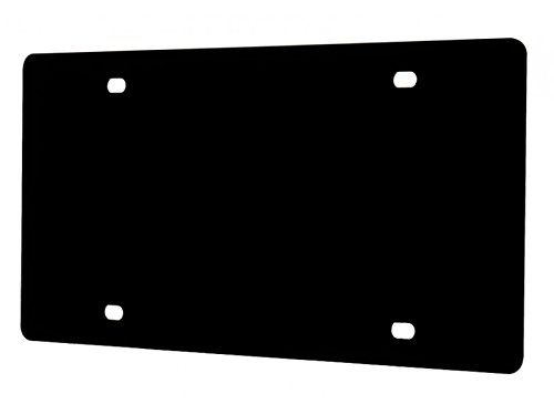 Marketing Holders Blank License Plate Laser Cut Acrylic Black Qty 1 ()