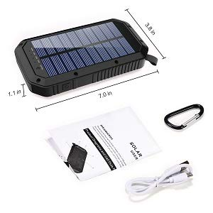 31wyuaMwNZL - Solar Charger, 25000mAh Battery Solar Power Bank Portable Panel Charger with 36 LEDs and 3 USB Output Ports External Backup Battery for Camping Outdoor for iOS Android