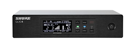 Shure QLXD4 Half-Rack, Single Channel Digital Wireless Receiver, G50 (Aes Secure 256)