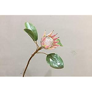 BIG-DEAL BD_6pcs 52cm Small Emperor Emulation Flower Protea Brief Nordic Style High Grade Decoration Noble Elegant Grand Festival Adornment - ( Color:Pink ) 61