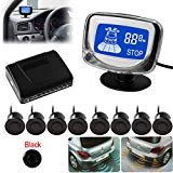 SallyBest® Omnibearing Vehicle Parking Assiistance System Digital LCD Display Car Reverse Front Rear View Radar System Kit...