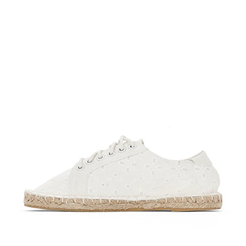 La Redoute Collections Flache Sneakers, Sisalsohle Weiß