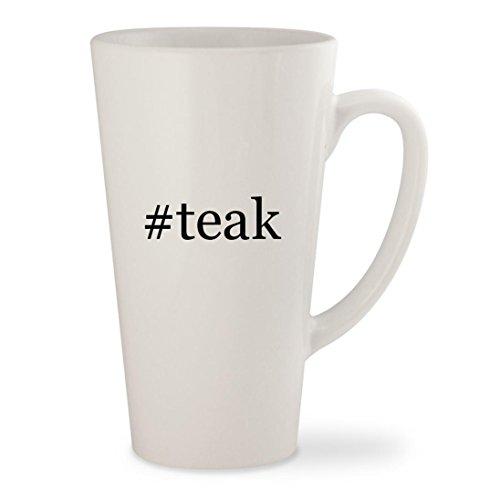 #teak - White Hashtag 17oz Ceramic Latte Mug Cup