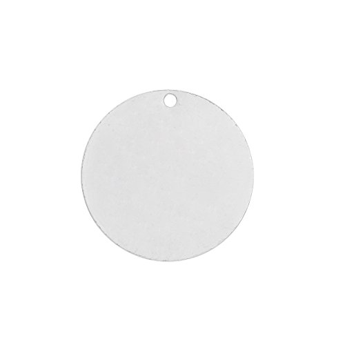 50 Silver Plated Copper Round Circle Stamping Blank Tags for Metal Stamping 15mm or 5/8 Inch - Round Metal Circles