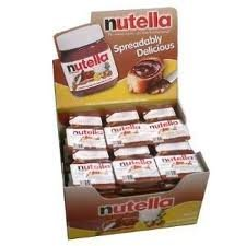Ferrero Nutella Hazelnut Spread, Single Serve Mini Cups with Pretzel Sticks, .52 oz. each, 120 Count
