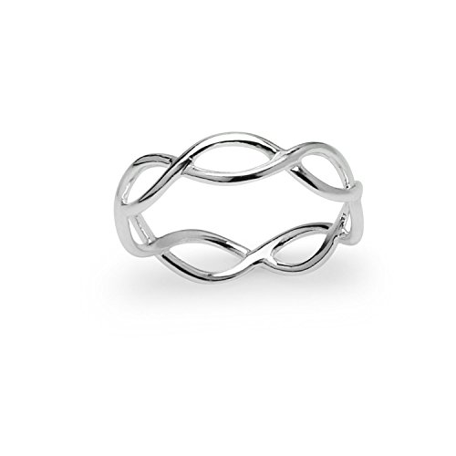 River Island Jewelry - 925 Sterling Silver Infinite - Twisted Wedding Ring
