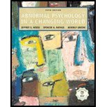Abnormal Psychology in a Changing World, Nevid, Jeffrey S. and Rathus, Spencer A., 0130463833