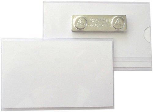 50 Pi/èce Plaque Nominatives /Étuis de Carte DIdentit/é en PVC Rigide avec Syst/ème Magn/étique 90x55 Mm