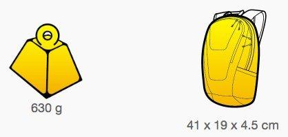 Zaino di hidratacion Blue Tongue Hi-Viz 2L giallo riflettente con 15litri aggiuntive per conserva. Tubo di alimentazione da 97cm e 7mm di diametro. Multiples tasche. Arancione Neon per maggiore sic