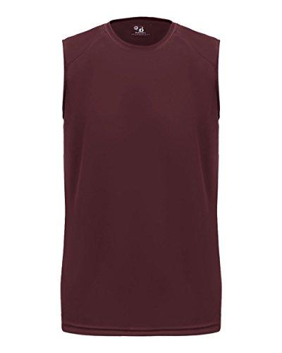 Maroon Adult Large Tank Top Sleeveless Wicking Shirt (Uniform Sleeveless Baseball)
