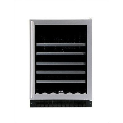 Marvel 61WCMBSGR Standard Efficiency Single Zone Wine Cellar with Right Hinged Frame Glass Door, 24'', Stainless Steel