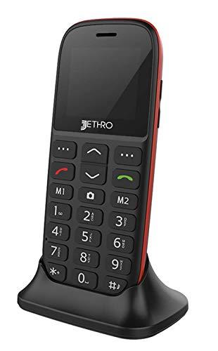 Jethro [SC318v2] 3G Unlocked Bar Style Senior & Kids Cell Phone, SOS  Emergency Button, 1 77
