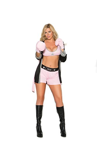 Zabeanco Prizefighter 4 Pc. Costume Includes Top, Shorts, Hooded Robe Gloves]()