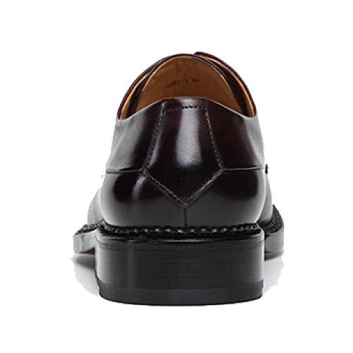 Scarpe Stringate da da Uomo High Uomo Misura Fashion Scarpe End Round in su Pelle Goodyear Brown Head qRSpxITq