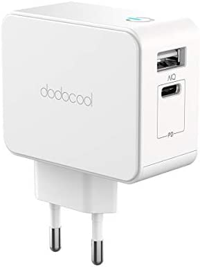 dodocool Cargador de Pared Rápido USB Tipo C PD con 30W Power Delivery, Adaptador de Carga Rápida para Apple MacBook/iPad Pro/iPhone X/XS/XR/8 ...