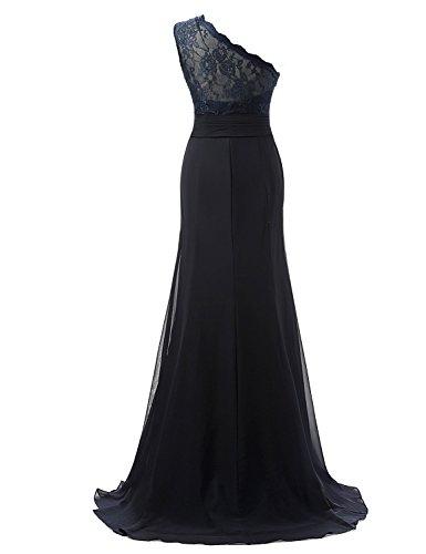 Abendkleider Shoulder Kleider Damen One Blue Formelle Fanciest Navy Blue Kleider Spitzen Navy Ball TEYXZxqw