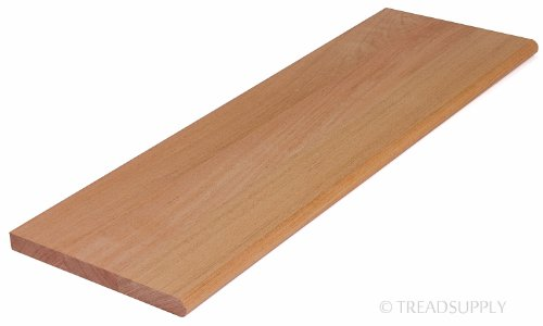 36 Brazilian Cherry Stair Tread - Unfinished Solid