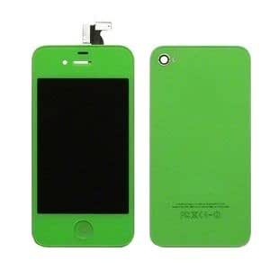 iPhone 4 Compatible lcd screen touch digitizer + back cover housing Green kit