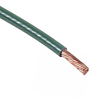 Amazon.com: Copper Ground Wire 15\' FT 12 AWG Solid Copper Green ...