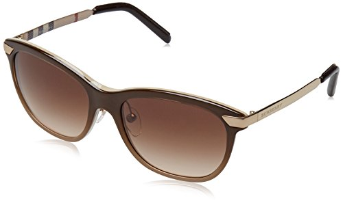 Burberry 4169Q 342613 Brown Gradient 4169Q Wayfarer Sunglasses Lens Category - Wayfarer Burberry Sunglasses