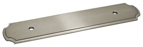 - 10 Pack - Cosmas B-112-96SN Satin Nickel Cabinet Hardware Handle Pull Backplate/Back Plate - 3-3/4
