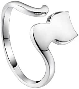 Sterling Silver Rings Cute Cat Tail Ring Gifts for Women Ring Size 4.5 - VIKI LYNN