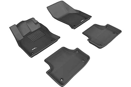 3D MAXpider Complete Set Custom Fit All-Weather Floor Mat for Select Audi A3/S3 Models - Kagu Rubber (Black)