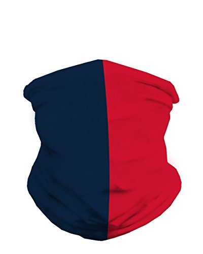 (INTO THE AM Nautical Blue and Red Sports Fan Mask Bandana)