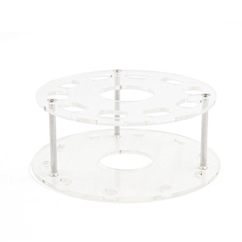 uxcell Clear Acrylic 10 Hole Makeup Brush Holder Drying Rack