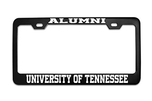 Auto Decorative Frames Alumni University of Tennessee University Black (1) Customized License Plate Frame Tag, Car License Plate Cover, 2 Holes Aluminum Metal Car License Plate Holder