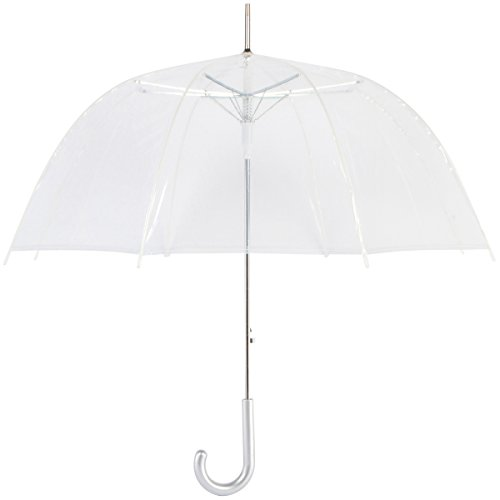Cloak Umbrellas 10 Piece Dome/Bubble Auto Open Clear -