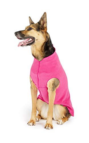 Gold Paw Stretch Fleece Dog Coat – Soft, Warm Dog Clothes, Stretchy Pet Sweater – Machine Washable, Eco Friendly – All…