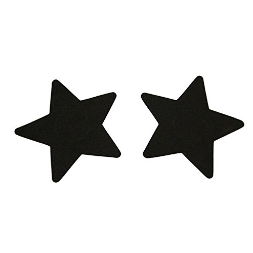 Sexy Sequins Red Bule Black Nude Purple Star Nipple Cover Pasties Breast Petals 1 Pair High Quality 5 Colors ()